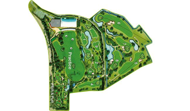 Inesis Golf Park, le parcours 9 trous